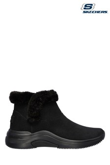 Skechers Black On The Go Midtown So Plush Ankle Boots