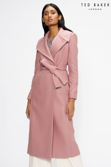 Ted Baker Rrosiey Wool Oversized Collar Coat