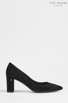 Ted Baker Savana Suede 7cm Block Heel Court Shoes