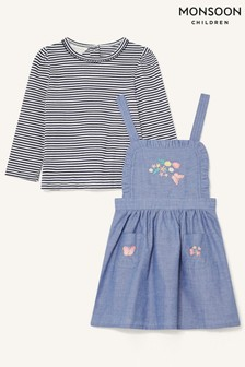 Monsoon Baby Butterfly Pinny and Top