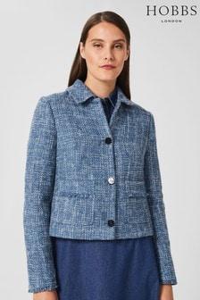 Hobbs Blue Ashlyn Tweed Jacket