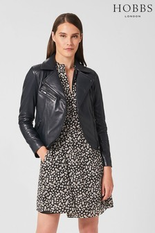 Hobbs Blue Dakota Leather Jacket
