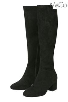 M&Co Knee High Heeled Boots