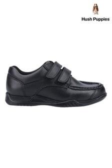 Hush Puppies Black Hudson Junior School Shoes
