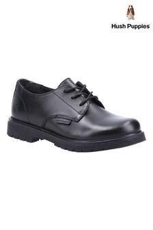 Hush Puppies Junior Black Remi School Shoes