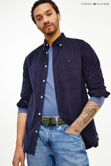 Tommy Hilfiger Blue Slim Flex Corduroy Shirt