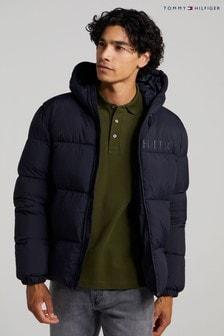 Tommy Hilfiger Mens Blue High Loft Jacket