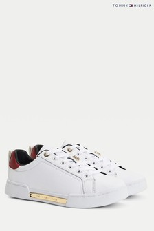 Tommy Hilfiger White Th Hardware Elevated Trainers