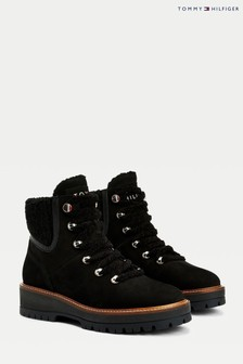 Tommy Hilfiger Black Outdoor Flat Boots
