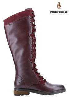 Hush Puppies Rudy Zip-Up Lace-Up Long Boots