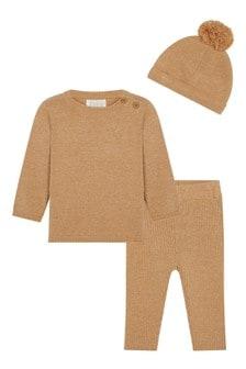 F&F Natural Camel Knit Set