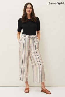 Phase Eight Natural Laurie Stripe Culottes
