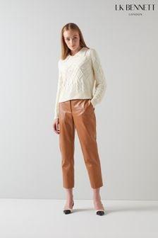L.K.Bennett Arran Leather Trousers