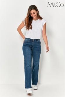 M&Co Blue Wide Leg Jeans
