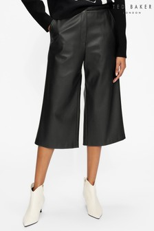 Ted Baker Liivit Faux Leather Culotte Trousers