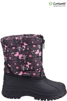 Cotswold Younger Girls Purple Iceberg Zip Snow Boots