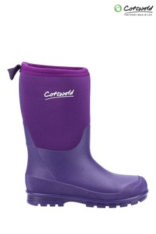 Cotswold Younger Girls Purple Hilly Neoprene Wellington Boots