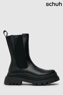 Schuh Black Anastasia High-Cut Chelsea Boots