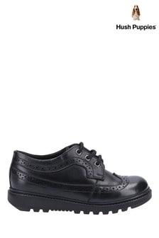Hush Puppies Black Felicity Junior School Shoes