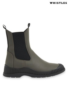 Whistles Denver Rubberised Leather Boots