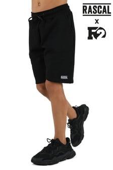 Rascal Boys Black Essential Shorts