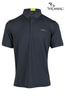 Stromberg Navy Putter Core Golf Polo Shirt