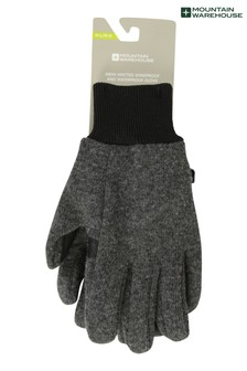 Mountain Warehouse Black/Grey Knitted Windproof/Waterproof Gloves