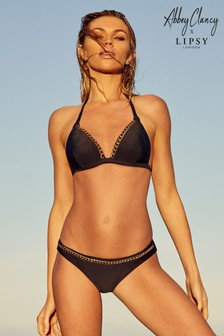25404ffee5fe9 Abbey Clancy X Lipsy Chain Trim Bikini Top