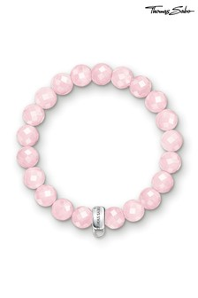 Thomas Sabo Pink Beaded Charm Club Bracelet