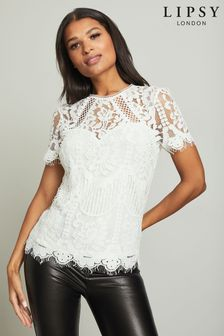 625ced4dd5d1 Lipsy Tops | Lipsy Lace & Cold Shoulder Tops For Women | Next UK