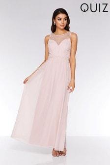 b0adb4bc768 ... Quiz Chiffon Embellished High Neck Maxi Dress ...