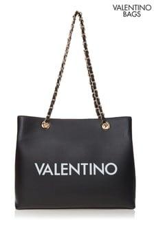 Valentino Bags Black Logo Tote Bag