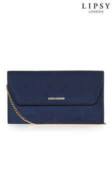 Lipsy Navy Envelope Clutch Bag