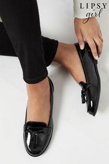 Lipsy Black Tassle Loafer (Older)