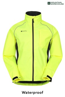 Mountain Warehouse Yellow Adrenaline Waterproof Mens Iso-Viz Jacket