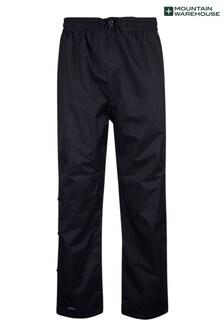 Mountain Warehouse Black Downpour Mens Waterproof Trousers - Short Length