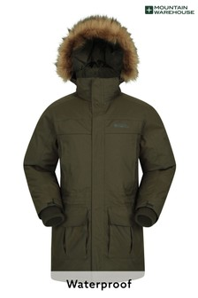 Mountain Warehouse Khaki Antarctic Extreme Waterproof Mens Down Jacket