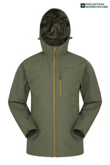 Mountain Warehouse Khaki Brisk Extreme Mens Waterproof Jacket