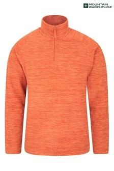 Mountain Warehouse Light Orange Snowdon Mens Micro Fleece