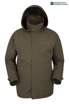 Mountain Warehouse Khaki Fell Mens 3 In 1 Water Resistant Jacket