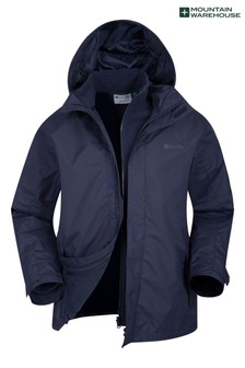 Mountain Warehouse Navy Fell Mens 3 In 1 Water Resistant Jacket