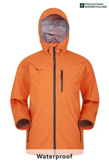 Mountain Warehouse Burnt Orange Bachill Mens Waterproof Jacket
