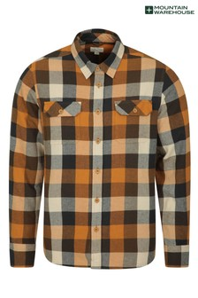 Mountain Warehouse Rust Trace Mens Flannel Long Sleeve Shirt