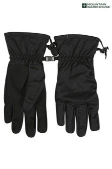 Mountain Warehouse Black Classic Waterproof Mens Gloves