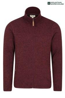 Mountain Warehouse Red Idris Mens Full Zip Fleece