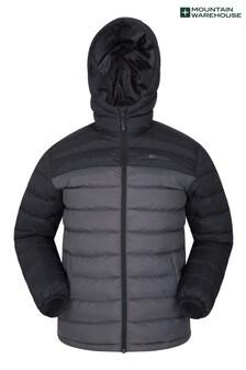 Mountain Warehouse Black and Grey Seasons Mens Padded Jacket