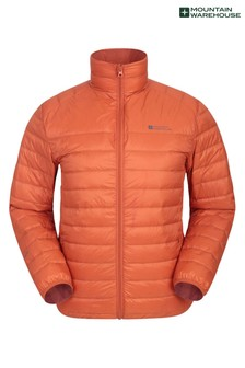 Mountain Warehouse Dark Orange Featherweight Down Mens Jacket