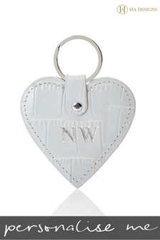 Personalised Croc Heart Key Ring By HA Designs