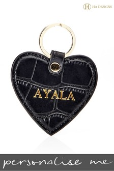Personalised Croc Heart Key Ring By HA Designs