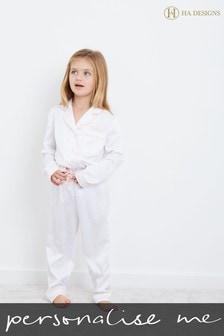 Personalised HA Mini Childrens Long Sleeve Pyjama Set By HA Design